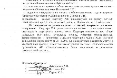 Пакет документов отправленный в АО ТВК