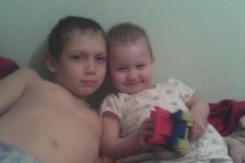 Сыночки,старший Евгений , младший Егорка.